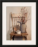 Watering Can on Chair Prints by Cecile Baird