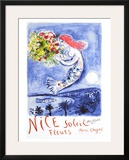 Nice, Soleil Fleurs Framed Giclee Print by Marc Chagall