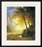 Hetch Hetchy Canyon Print by Albert Bierstadt