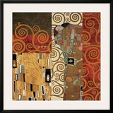 Deco Collage Detail (from Fulfillment, Stoclet Frieze) Prints by Gustav Klimt