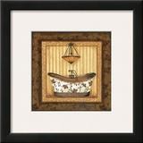 Copper Paisley Bath I Prints by Jo Moulton