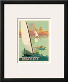 Egypt The Nile River c.1930s Print by H. Hashim