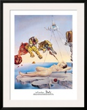 Dream Caused by the Flight of a Bee Around a Pomegranate, c. 1944 Framed Giclee Print by Salvador Dali