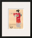 Japan Air Lines, Geisha c.1950's Print by  Mitsumura