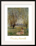 Woman Under the Willows Print by Claude Monet