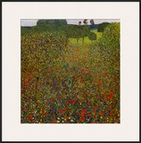 Field of Poppies Poster by Gustav Klimt