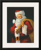 Santa Print by Susan Comish