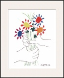 Hand With Bouquet Prints by Pablo Picasso