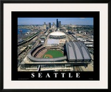Safeco Field - Seattle, Washington Print by Mike Smith