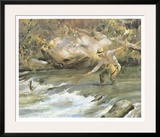 Trout Stream Print by James M. Sessions