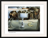 Apparition of Face and Fruit Dish on a Beach Print by Salvador Dalí