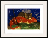 Two Cats 1913 Framed Giclee Print by Franz Marc