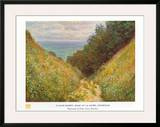 Road At La Cavee Poster by Claude Monet