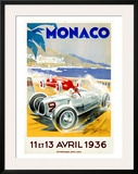 Monaco Grand Prix, 1936 Framed Giclee Print by Geo Ham
