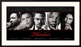 Thinker (Quintet): Peace, Power, Respect, Dignity, Love Posters