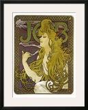 Job Framed Giclee Print by Alphonse Mucha