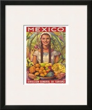 Direccion General de Turismo: Mexico - Plenty of Fruit Posters by Jorge Gonzalez Camarena