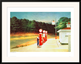 Gas 1940 Framed Giclee Print by Edward Hopper