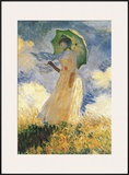 Parasol Prints by Claude Monet