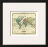 World on Mercators Projection, c.1823 Posters by Henry S. Tanner