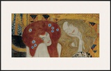 Beethoven Frieze (detail) Posters by Gustav Klimt