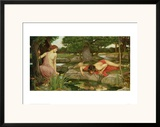 Echo and Narcissus, 1903 Framed Giclee Print by John William Waterhouse