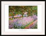The Artist's Garden at Giverny, c.1900 Print by Claude Monet