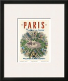 Pan American: Paris by Clipper, c.1951 Poster