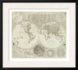 Composite: World or Terraqueous Globe, c.1787 Print by Samuel Dunn