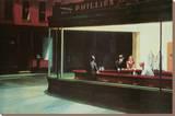 Nighthawks, Noctambules ou Les oiseaux de nuit, 1942 Reproduction transférée sur toile par Edward Hopper