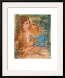 Mother and Child Print by Pablo Picasso