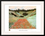 Poppy Field In A Hollow Print by Claude Monet