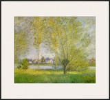 Willows of Vetheuil Poster by Claude Monet