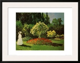 Lady in a Garden Posters by Claude Monet