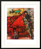 The Red House Print by Marc Chagall