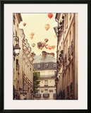 Flying Over Paris Print by Irene Suchocki