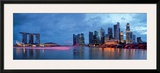 Panorama of Singapore Skyline and River Prints