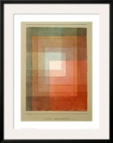 White Framed Polyphonically Framed Giclee Print by Paul Klee