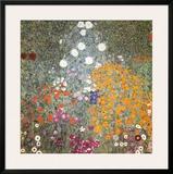 Farm Garden Poster by Gustav Klimt