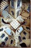 The Courtyard Kunst op gespannen canvas van Irvine Peacock