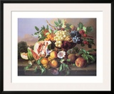 Still Life with Fruit Posters by Anton Hartinger