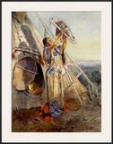Culto al sol en Montana Pósters por Charles Marion Russell