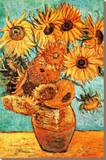 Vincent Van Gogh Vase with Twelve Sunflowers Art Print Poster Kunstdruk op gespannen doek