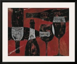 Wine Selection III Red Art by Daphne Brissonnet