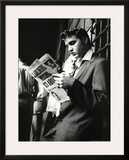 Elvis Presley Reading Sunday Mirror Art