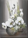 Univers d'Orchidees Blanches II Reproduction transférée sur toile par Olivier Tramoni