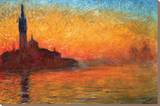 Monet-Dusk Venice Stretched Canvas Print