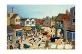 18th Century Mayfair Cattle Market Giclee Print by Margaret Loxton