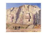 The Tombs of Darius and Artaxeres Giclee Print by Bob Brown