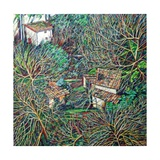 Anticoli Winter, Giclee Print by Noel Paine